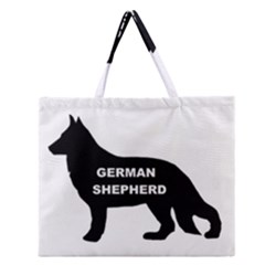 German Shepherd Name Silo Zipper Large Tote Bag