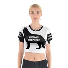 German Shepherd Name Silo Cotton Crop Top