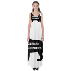 German Shepherd Name Silo Empire Waist Maxi Dress