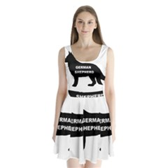 German Shepherd Name Silo Split Back Mini Dress