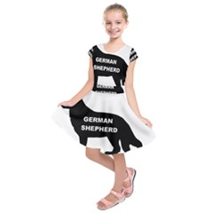 German Shepherd Name Silo Kids  Short Sleeve Dress