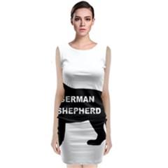 German Shepherd Name Silo Sleeveless Velvet Midi Dress