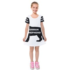 German Shepherd Name Silo Kids  Short Sleeve Velvet Dress