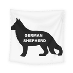 German Shepherd Name Silo Square Tapestry (Small)