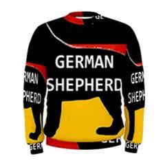 German Shepherd Name Silhouette On Flag Black Men s Sweatshirt