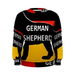 German Shepherd Name Silhouette On Flag Black Women s Sweatshirt