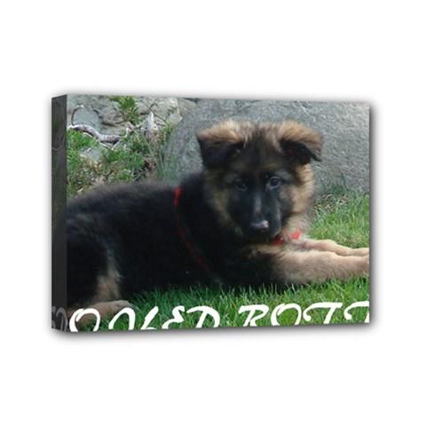 Spoiled Rotten German Shepherd Mini Canvas 7  x 5