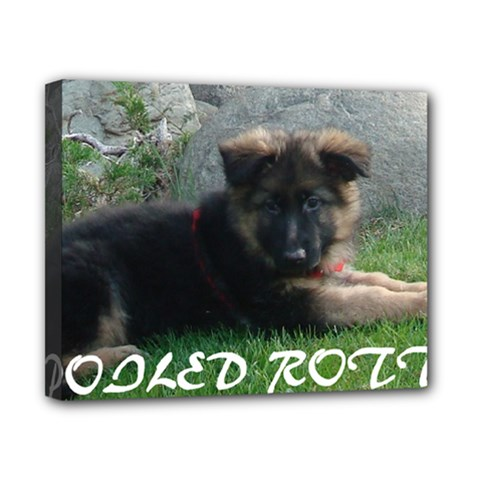 Spoiled Rotten German Shepherd Canvas 10  x 8