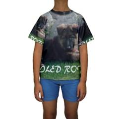 Spoiled Rotten German Shepherd Kids  Short Sleeve Swimwear