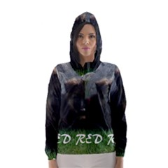 Spoiled Rotten German Shepherd Hooded Wind Breaker (Women)