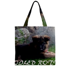 Spoiled Rotten German Shepherd Zipper Grocery Tote Bag