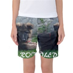Spoiled Rotten German Shepherd Women s Basketball Shorts