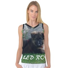 Spoiled Rotten German Shepherd Women s Basketball Tank Top