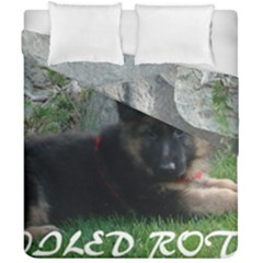 Spoiled Rotten German Shepherd Duvet Cover Double Side (California King Size)