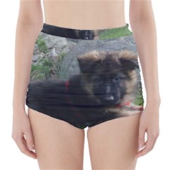 Spoiled Rotten German Shepherd High-Waisted Bikini Bottoms