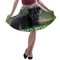 Spoiled Rotten German Shepherd A-line Skater Skirt