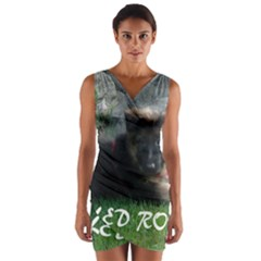 Spoiled Rotten German Shepherd Wrap Front Bodycon Dress