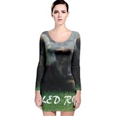 Spoiled Rotten German Shepherd Long Sleeve Velvet Bodycon Dress