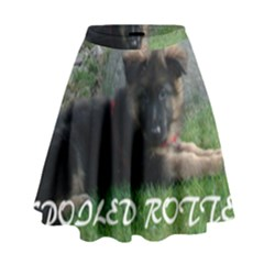 Spoiled Rotten German Shepherd High Waist Skirt