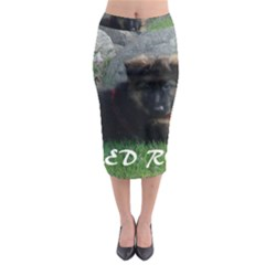 Spoiled Rotten German Shepherd Midi Pencil Skirt