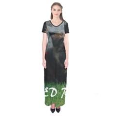 Spoiled Rotten German Shepherd Short Sleeve Maxi Dress