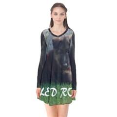 Spoiled Rotten German Shepherd Flare Dress
