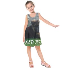 Spoiled Rotten German Shepherd Kids  Sleeveless Dress