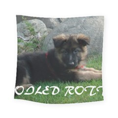 Spoiled Rotten German Shepherd Square Tapestry (Small)