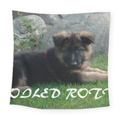 Spoiled Rotten German Shepherd Square Tapestry (Large)