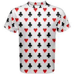 Curly Heart Card Red Black Gambling Game Player Men s Cotton Tee