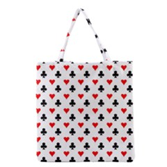 Curly Heart Card Red Black Gambling Game Player Grocery Tote Bag