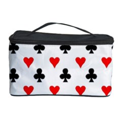 Curly Heart Card Red Black Gambling Game Player Cosmetic Storage Case