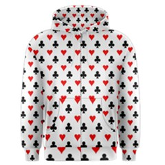 Curly Heart Card Red Black Gambling Game Player Men s Zipper Hoodie