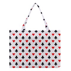 Curly Heart Card Red Black Gambling Game Player Medium Tote Bag