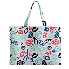 Coral Leaf Flower Sea Zipper Mini Tote Bag