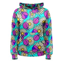 Bunga Matahari Serangga Flower Floral Animals Purple Yellow Blue Pink Women s Pullover Hoodie