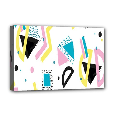 Design Elements Illustrator Elements Vasare Creative Scribble Blobs Yellow Pink Blue Deluxe Canvas 18  x 12