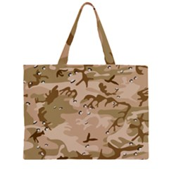 Desert Camo Gulf War Style Grey Brown Army Large Tote Bag