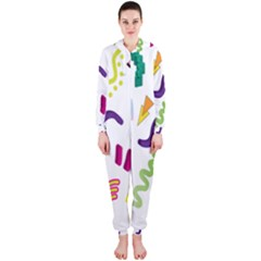 Design Elements Illustrator Elements Vasare Creative Scribble Blobs Hooded Jumpsuit (Ladies)