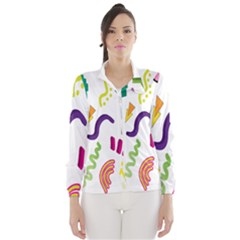 Design Elements Illustrator Elements Vasare Creative Scribble Blobs Wind Breaker (Women)