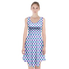 Diamond Heart Card Purple Valentine Love Blue Racerback Midi Dress