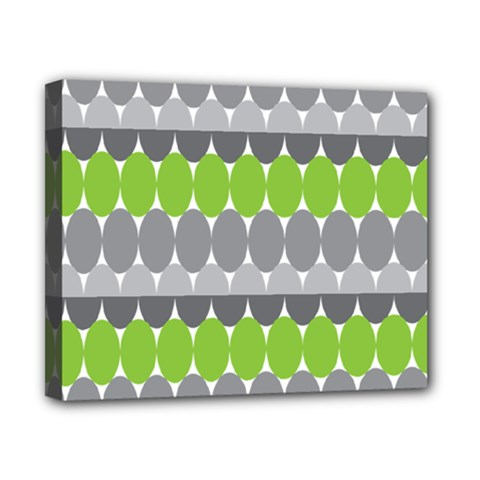 Egg Wave Chevron Green Grey Canvas 10  x 8