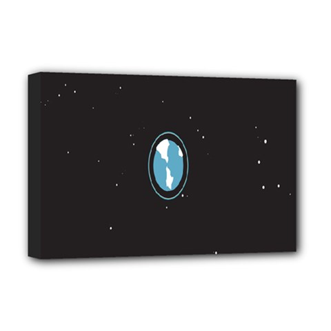 Earth Universe Natural Space Galaxy Deluxe Canvas 18  x 12