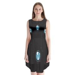 Earth Universe Natural Space Galaxy Sleeveless Chiffon Dress