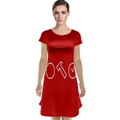 Hour Hammer Plaid Red Sign Cap Sleeve Nightdress
