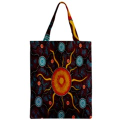 Great Sun Fabric Woven Batik Zipper Classic Tote Bag