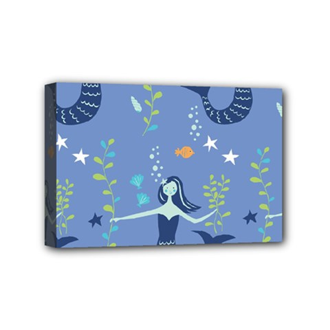 Little Mermaid Star Fish Sea Water Mini Canvas 6  x 4