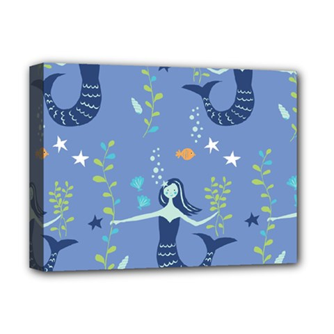 Little Mermaid Star Fish Sea Water Deluxe Canvas 16  x 12