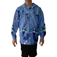 Little Mermaid Star Fish Sea Water Hooded Wind Breaker (Kids)