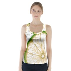 Lime Racer Back Sports Top